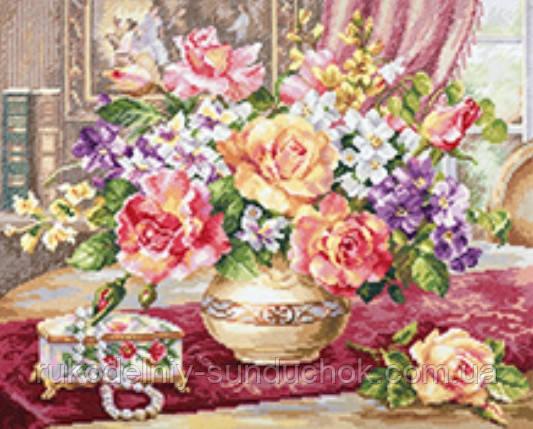 """Набор для вышивки крестом """"Алиса"""" Розы в гостиной 2-50"""