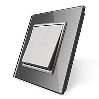 Клавишный выключатель Livolo серый (VL-C7K1-15), фото 1