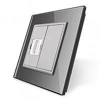 Розетка HDMI Livolo серый стекло (VL-C791HD-15), фото 1