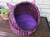 Плетений будиночок для котів (подушка в подарунок), фото 3
