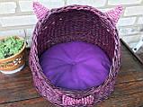 Плетений будиночок для котів (подушка в подарунок), фото 5