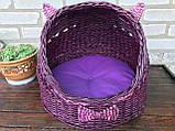 Плетений будиночок для котів (подушка в подарунок), фото 6