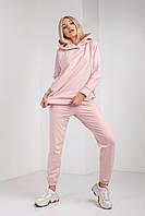 Нежно розовый повседневный костюм женский