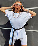 Женский летний спортивный костюм с велосипедками и свободной футболкой 1805905, фото 2