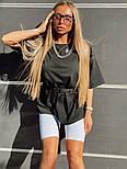 Женский летний спортивный костюм с велосипедками и свободной футболкой 1805905, фото 4