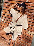 Женский летний спортивный костюм с велосипедками и свободной футболкой 1805905, фото 5