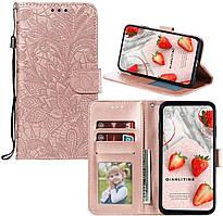 Чехол Lotus для iPhone 11 Pro Max книжка кожа PU Rose-Gold