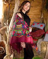 Украинский платок (125х125см, бордовый), фото 1