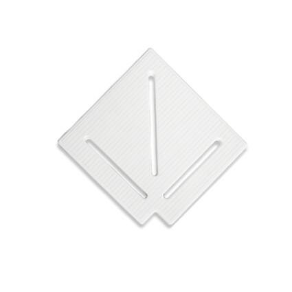 Aquaviva Угловой элемент AquaViva KK-25-1 Classic для переливной решетки 90° 245/25 мм (белый)
