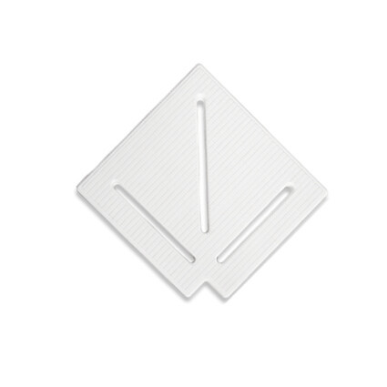 Aquaviva Угловой элемент AquaViva KK-15-1 Classic для переливной решетки 90° 145/25 мм (белый)