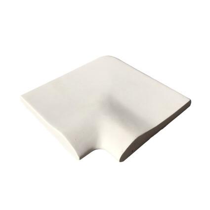 Aquazone Угловой копинговый камень Aquazone 250x300x50-25 мм, белый