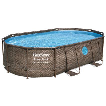 Bestway Каркасный бассейн Bestway Ротанг 56946 (488х305х107) с песочным фильтром