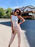 Женское летнее боди - майка без рукава с вырезами по бокам 3618392, фото 3