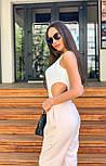 Женское летнее боди - майка без рукава с вырезами по бокам 3618392, фото 4