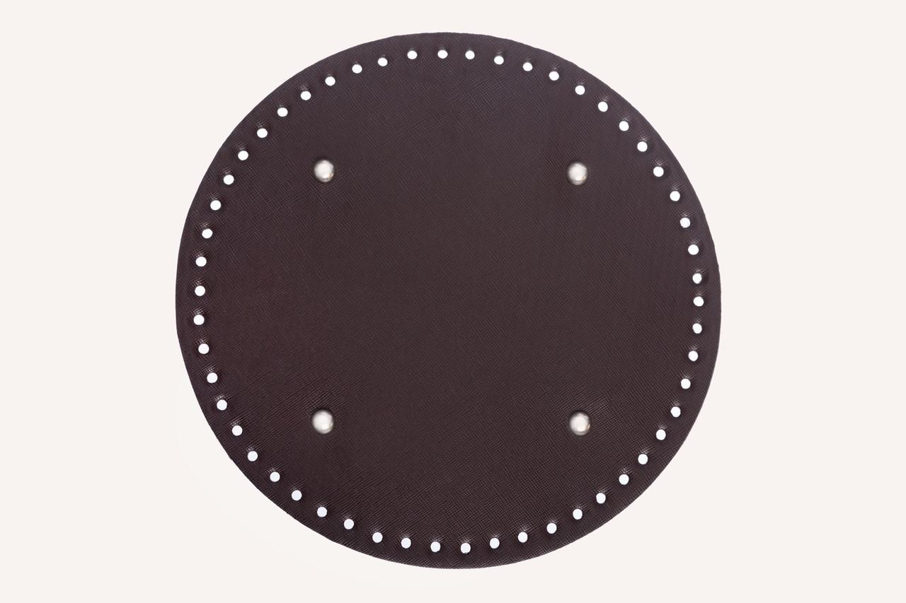 Донышко круглое для сумки экокожа Шоколад Ø 25 см с ножками