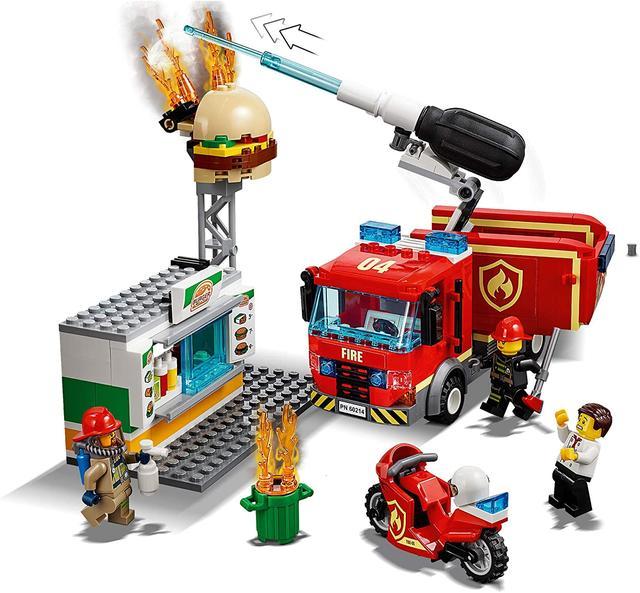 лего 60214 пожар в бургер-баре