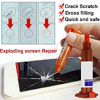 Полимер для ремонта трещин лобового стекла, экрана (R3-5ml)
