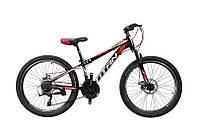 "TitanBike Велосипед  Titan Street 24""12"" Чёрный-Красный-Белый"