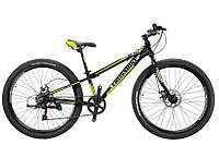 """CrossBike Велосипед Cross Blast 26""""11"""" Чёрный-Серебро-Неоновый Жёлтый"""