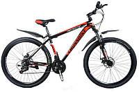 """CrossBike Велосипед Cross Hunter 27.5""""17"""" Чёрный-Белый-Красный"""