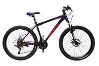 """CrossBike Велосипед Cross Leader 27,5""""19"""" Чёрный-Голубой-Красный"""