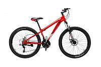 """CrossBike Велосипед Cross Shark 26""""13"""" Красный-Чёрный-Серебро"""