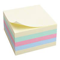 Блок бумаги Axent с клейким слоем 75x75мм, 450 листов, паст.куб  2324-00-A