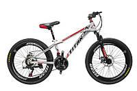 "TitanBike Велосипед Titan Maxus 24""12"" Белый-Чёрный-Красный"