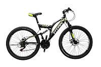 """Самокаты Велосипед Titan Panther 26""""18""""-Чёрный-Неоновый жёлтый-Белый"""
