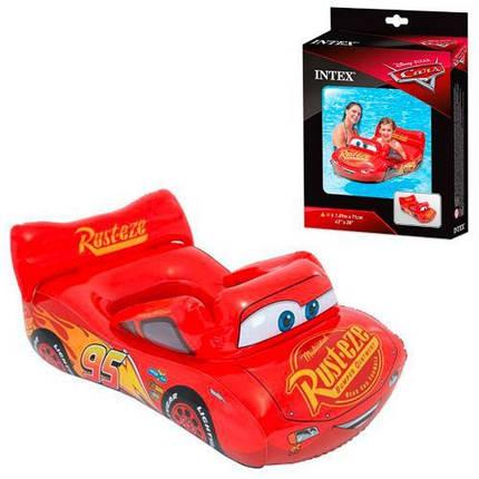Дитячий надувний машина POOL CRUISER Тачки 109X71 см Іntex 58392 червоний плотик, фото 2