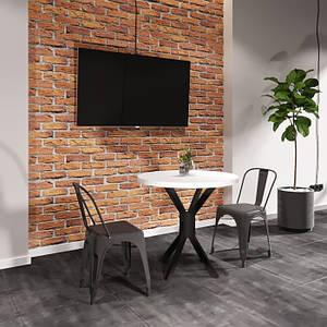 Круглий стіл Фолд Метал-Дизайн 800 мм металеві ніжки