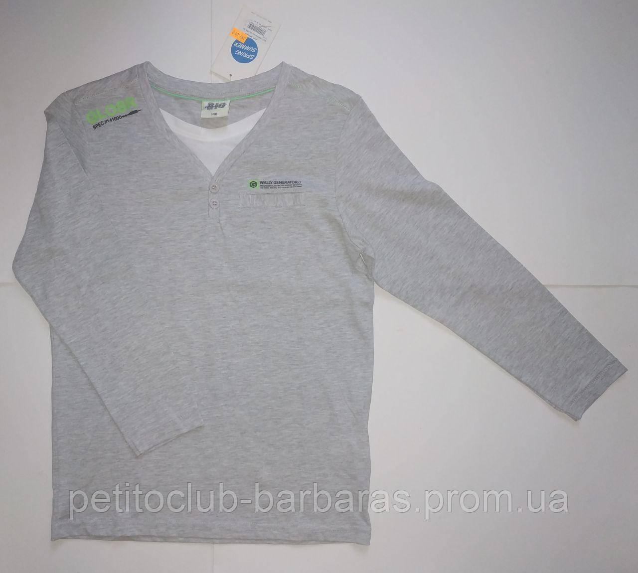 """Детский хлопковый реглан для мальчика """"GLOSR"""" серый (Glo-story, Венгрия)"""