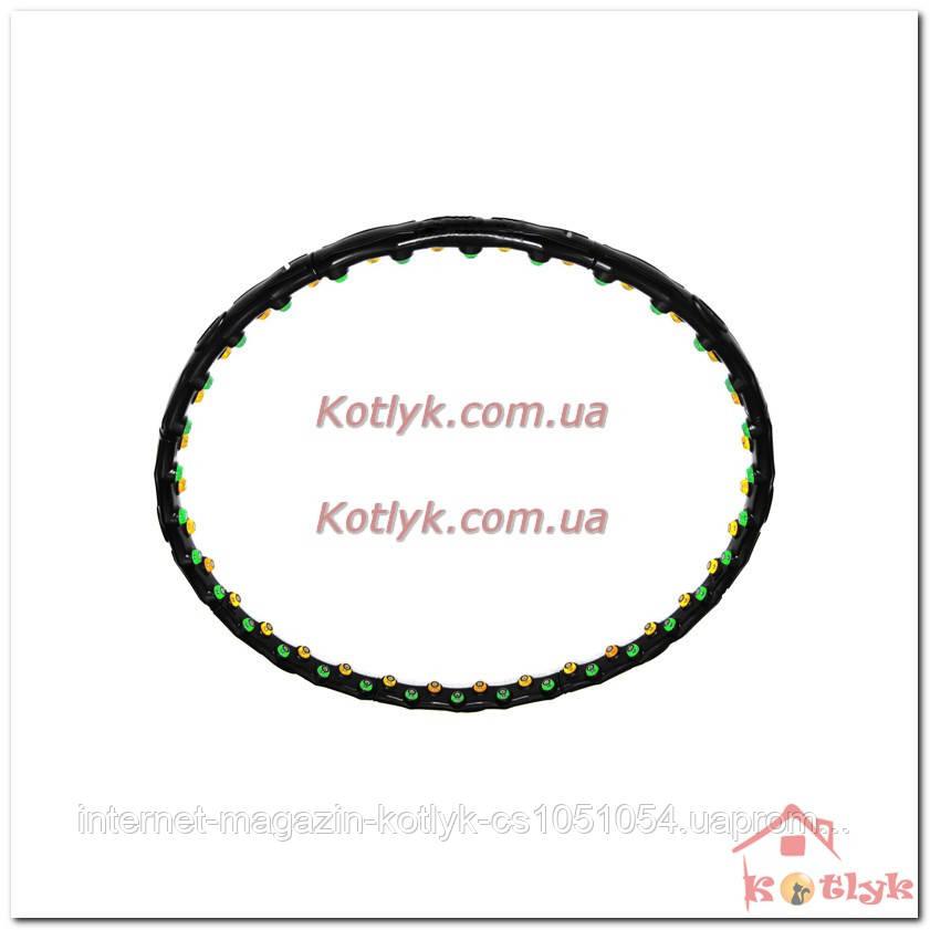 Массажный обруч (хула хуп) 6002 ( 0246 ) с магнитиками, вес 1,4к - Интернет магазин Kotlyk.com.ua в Киеве