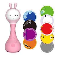 Интерактивная игрушка обучающая для малышей Smarty Зайка Alilo R1 Розовый (MS 1019)