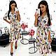 Платье-миди с цветочным принтом, фото 5