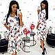 Платье-миди с цветочным принтом, фото 3