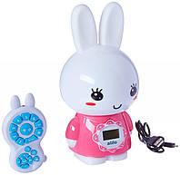 Интерактивная музыкальная игрушка плеер для малышей Alilo Honey Bunny G7 Розовый (MS 1819)