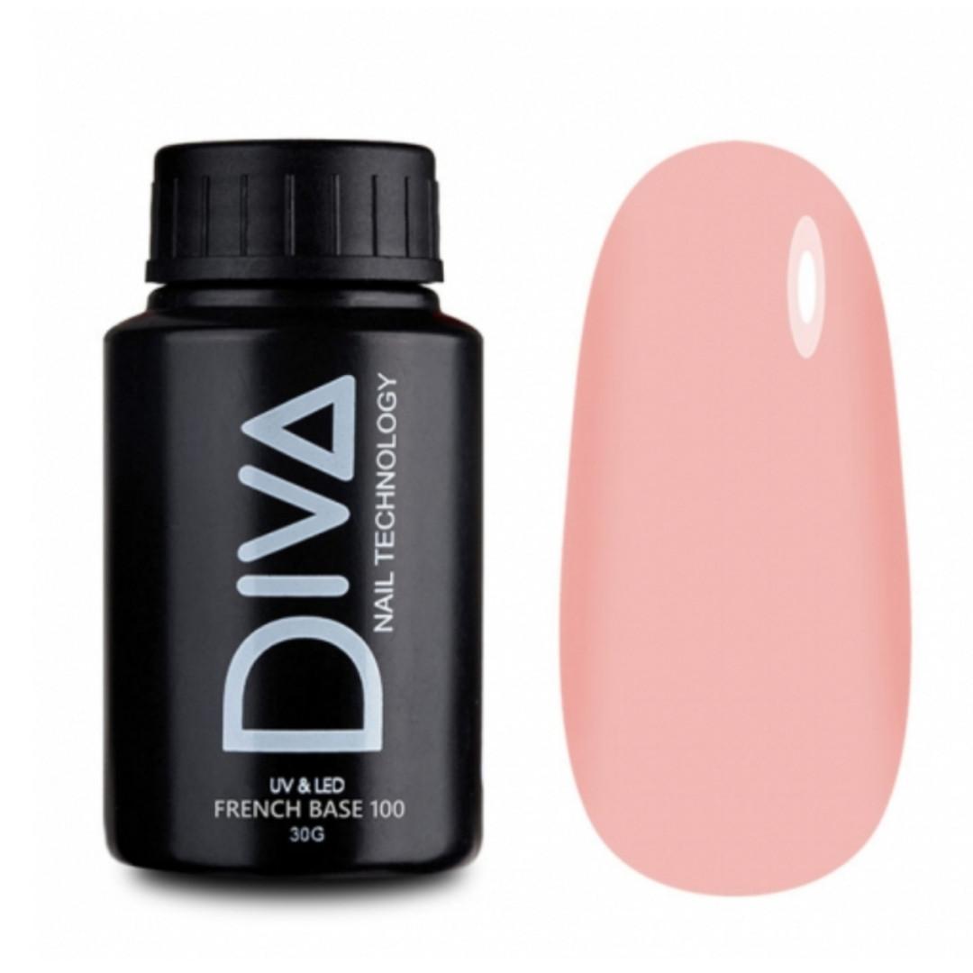 Френч база #100 от  Diva,  30 мл