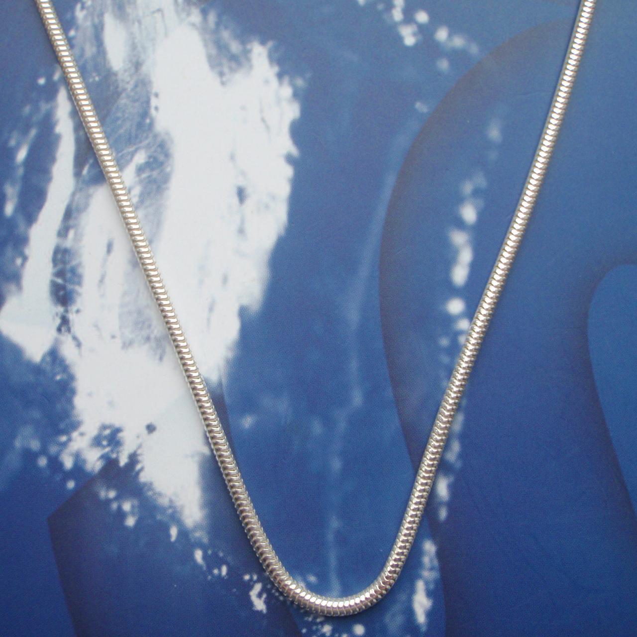 Серебряная цепочка, 650мм, 18 грамм, плетение Снейк