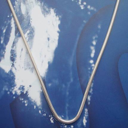 Серебряная цепочка, 650мм, 18 грамм, плетение Снейк, фото 2