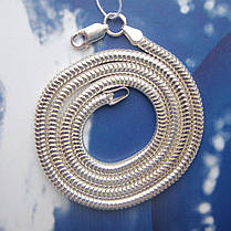 Серебряная цепочка, 650мм, 18 грамм, плетение Снейк, фото 3