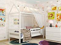Детская кровать Домик Джерри. Деревянная кровать с бортиком