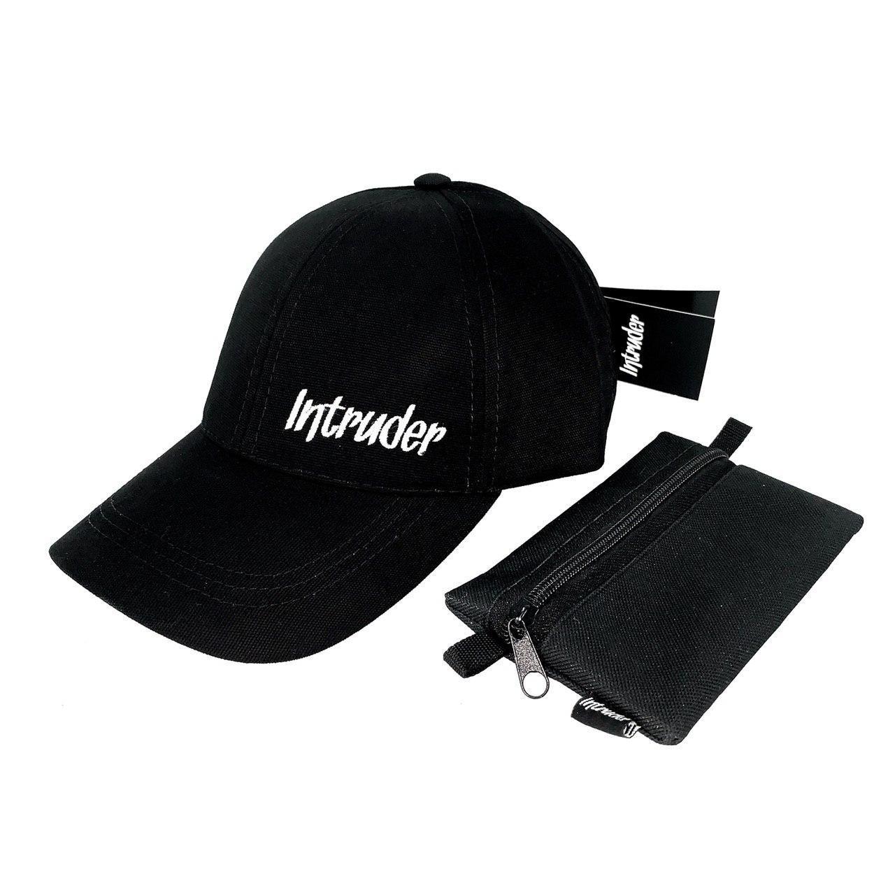 Кепка Intruder мужская | женская черная брендовая + Фирменный подарок
