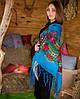 Украинский платок (125х125см, голубой)
