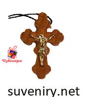 Крестик нательный деревянный фигурный