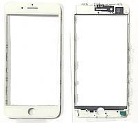 """Стекло дисплея для Apple iPhone 8 Plus (5.5"""") для переклейки с рамкой и OCA Белый"""