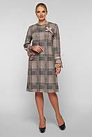 Платье женское Майя беж клетка