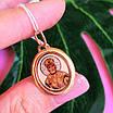 Золотая ладанка Николай Чудотворец  - Кулон Иконка Святой Николай золото 585, фото 6