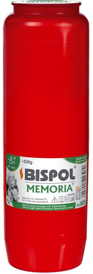 Вкладыш красный масляный Bispol 8 дней 6,7 х 21,5 см (WO8-030)