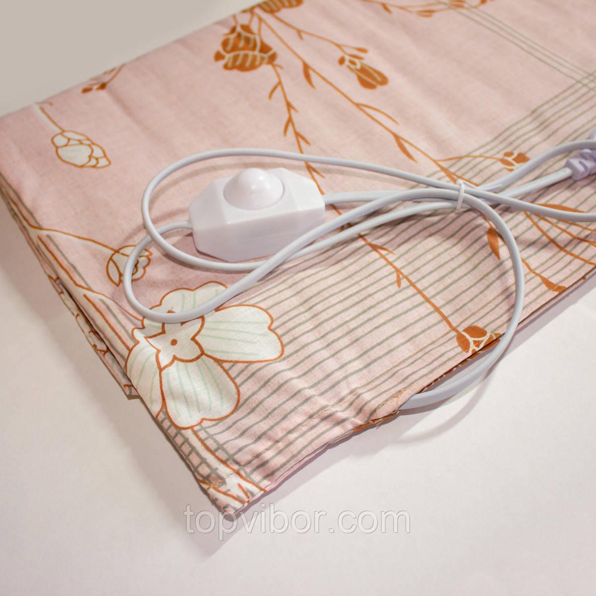 Электрогрелка Чудесник Розовая 40W с регулятором температуры 40х50 см | електрична грілка (VT)